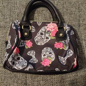 Betsey Johnson mini skull handbag